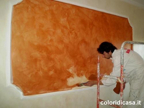 Elegant effetti metallici decorazione effetto rame - Effetti decorativi pittura ...