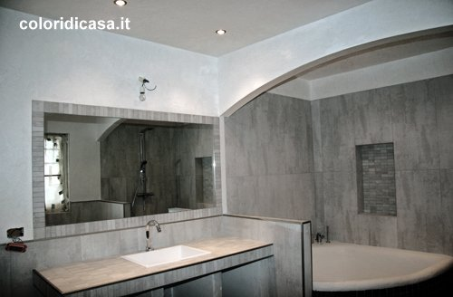 Marmorino - Decorazione Bagno  Foto Spatolati Decorativi