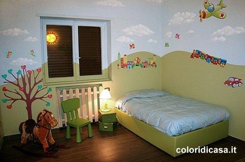 Foto pareti camerette imbianchino roma pittura casa - Decorazioni cameretta bambini ...