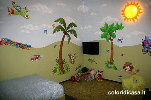 Cameretta decorata a marino foto pareti camerette - Pittura per cameretta ...